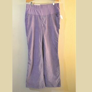 New Gap Full Panel Purple Corduroy Pants Size 10R